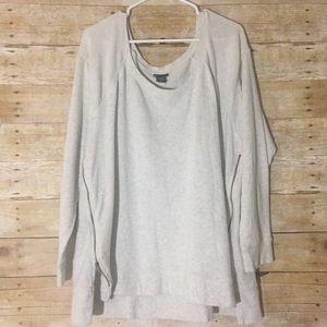 Torrid cream side zip sweater